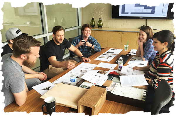 The Vasen crew meets with the Baskervill design team